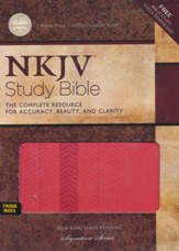 NKJV Study Bible, Second Edition, Leathersoft, Coral Sheen--indexed