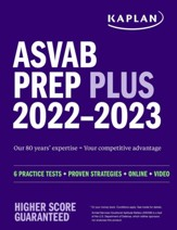 ASVAB Prep Plus 2022AA: 6 Practice  Tests + Proven Strategies + Online + Video - eBook