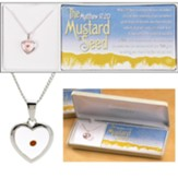 The Mustard Seed Heart Necklace