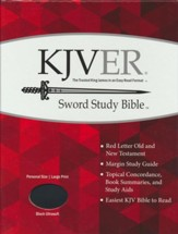 KJVer (Easy Reader) Large Print Sword Study Bible, Personal Size, Ultrasoft Black