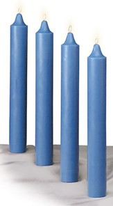 Advent Candle Set for Church, 12 x 1.5 Inches, 4 Blue, Long Burning