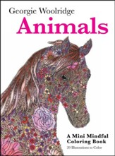 Animals: A Mini Mindful Coloring Book
