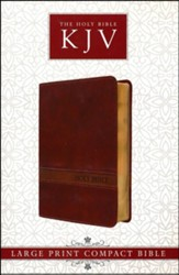 KJV Large Print Compact Bible, Saddle Brown