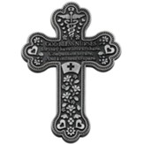 God Bless Nurses Pewter Cross