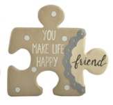 You Make Life Happy, Friend, Puzzle Piece Wall Art