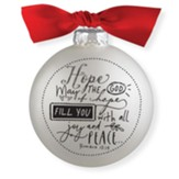 Hope, Glass Ball Ornament