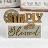 Simply Blessed Industrial Block Figurine