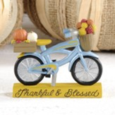 Thankful and Blessed, Bicycle with Pumpkins, Figurine