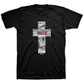 Collage Cross Shirt, Black, XX-Large