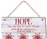 Hope, May the God Of Hope Fill You, Rustic Ornament