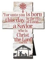 For Unto You Is Born This Day, A Savior, Cross, Small
