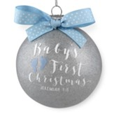 Baby's First Christmas, Blue Glass Ball Ornament