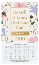2019 Be Still and Know That I Am God, Mini Magnetic Calendar