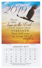 2019 Soar on Wings Like Eagles, Mini Magnetic Calendar