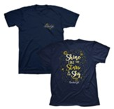 Stars Shirt, Navy, Large