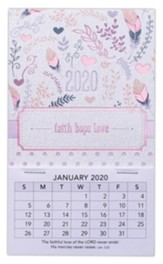 2020 Faith, Hope, Love Mini Magnetic Calendar