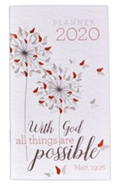 2020 With God All Things Are Possible Pocket Planner
