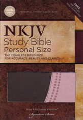 NKJV Study Bible, Imitation Leather, Pink & Brown