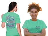 She Will Run Shirt, Cool Mint, Large