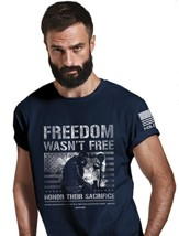 Freedom Wasn't Free Shirt, Navy, Small