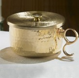 150-Host Hammered Brass Ciborium with Lid