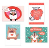 God Wuvs You (KJV) Box of 12 Valentine's Day Cards