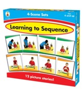 Learning to Sequence: 4-Scene Sets Game