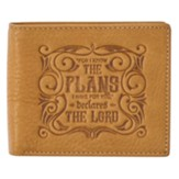 I Know The Plans Leather Wallet