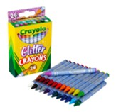 Glitter Crayons, 24 pieces