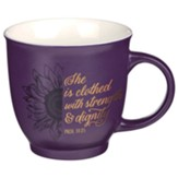 She Is Clothed In Strength Ceramic Mug