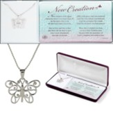 Butterfly, Cross, Necklace