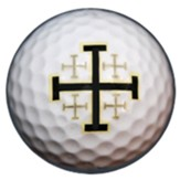 Set of 3 Golf Balls, Jerusalem Cross