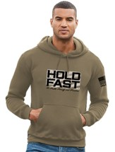 Hold Fast Hooded Sweatshirt, Khaki, Small