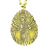 Guardian Angel Medal Pendant 1 1/4 inch