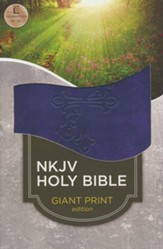 NKJV Classic Personal Size Reference Bible, Purple Giant Print, Custom