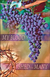 My Blood Shed for Many (Mark 14:24) Large Bulletins, 100