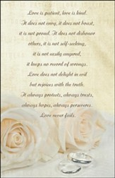 Love Is Patient (1 Corinthians 13:4-8, NIV) Bulletins, 100