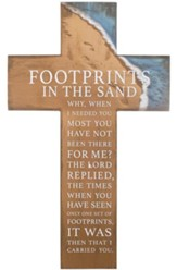 Footprints in the Sand Wall Cross