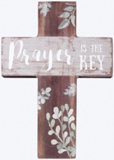 Prayer is the Key Mini Cross
