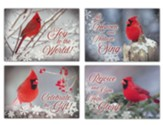 Christmas Cardinals, Box of 12 Christmas Cards (KJV)