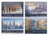 Winter's Landscape, Box of 12 Christmas Cards (NIV)