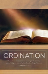 Ordination (Ephesians 3:7, KJV) Bulletins, 100