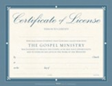 Minister License Certificates, Pack of 6