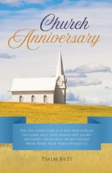Church Anniversary (Psalm 84:11, KJV) Bulletins, 100