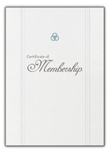 Certificate of Church Membership, Pack of 6