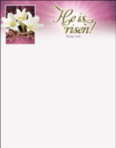 He Is Risen! (Mark 16:6) Letterhead, 100