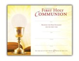 First Communion (1 Corinthians 11:28) Certificates, 25