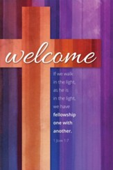 Welcome Cross (1 John 1:7, KJV) Welcome Folders, 12