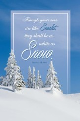 White As Snow (Isaiah 1:18, NIV) Bulletins, 100