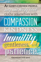 Clothe Yourselves with Compassion (Colossians 3:12, NIV) Bulletins, 100